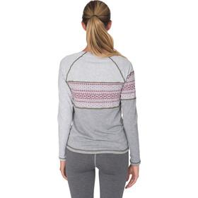 Varg Idre Baselayer T-shirt zippé Femme, grey with rubin